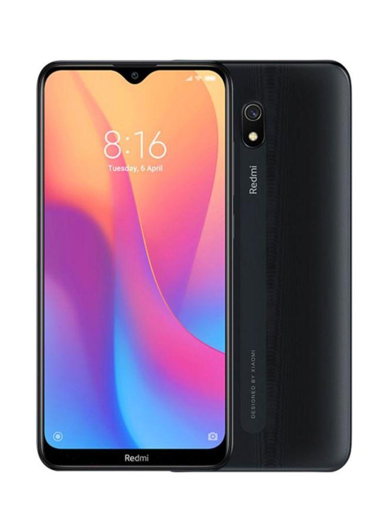 هاتف ريدمي 8A بشريحتي اتصال مع ذاكرة رام 2 جيجابايت وذاكرة داخلية 32 جيجابايت يدعم تقنية 4G LTE، أسود ميدنايت