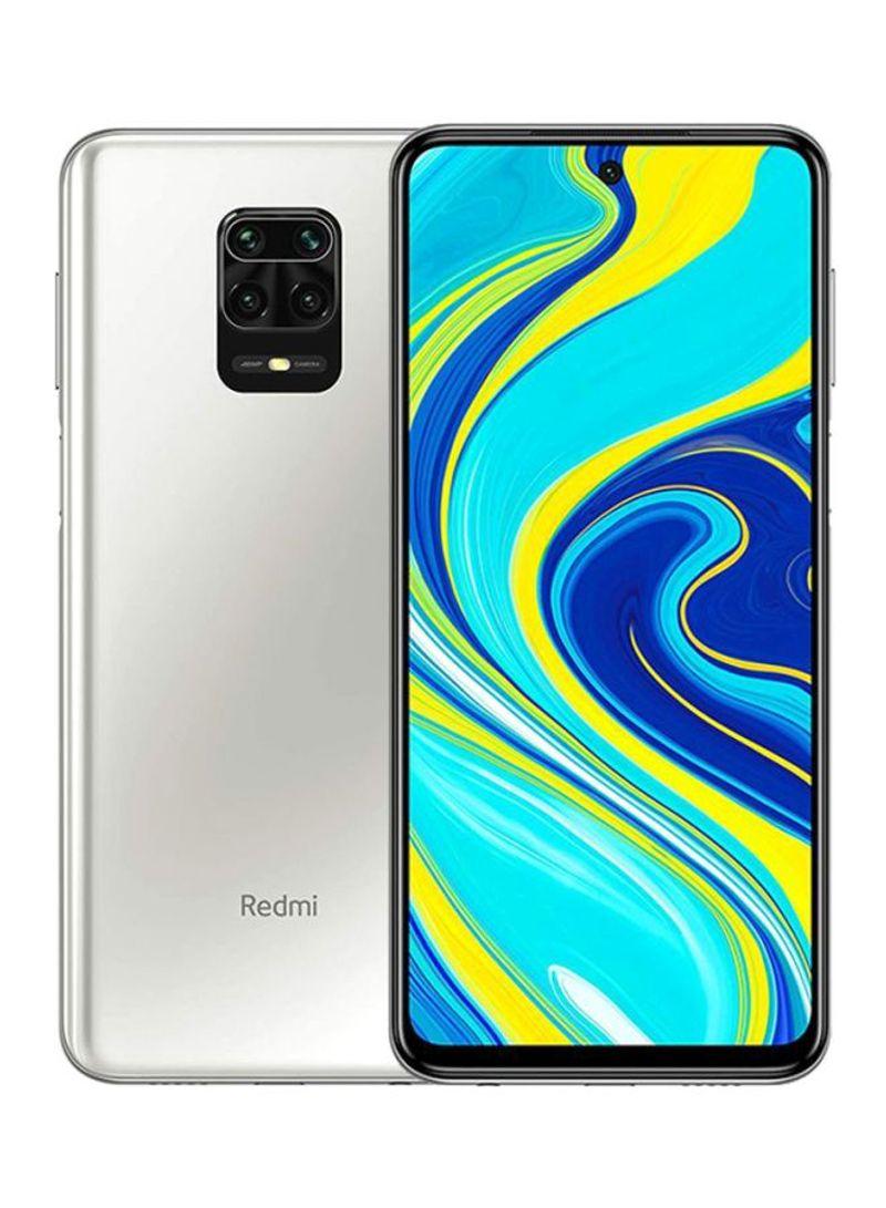 هاتف ريدمي نوت 9 برو بمواصفات عالمية بشريحتي اتصال، بذاكرة داخلية سعة 128 جيجابايت وذاكرة رام سعة 6 جيجابايت ويدعم تقنية 4G LTE، لون أبيض جلاسيير