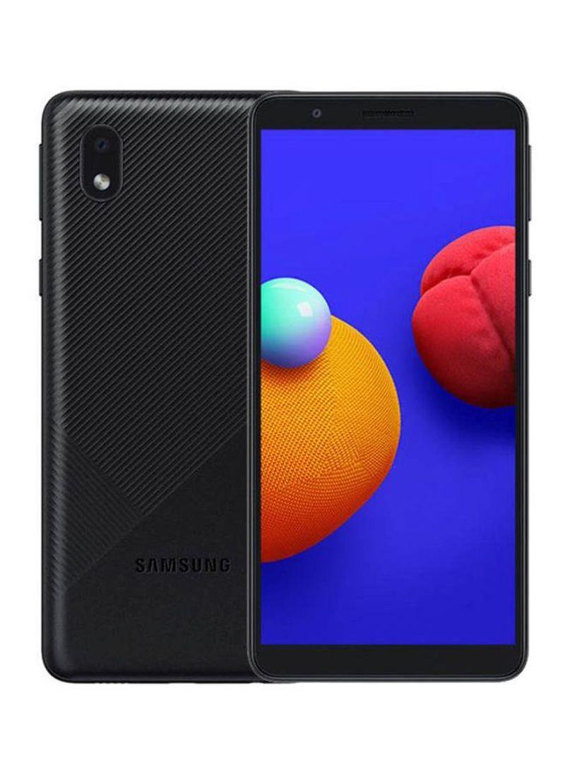 هاتف جالاكسي A01 كور ثنائي الشريحة بذاكرة رام سعة 1 جيجابايت وذاكرة تخزين داخلية بسعة 16 جيجابايت يدعم تقنية 4G LTE بلون أسود - إصدار الإمارات العربية المتحدة