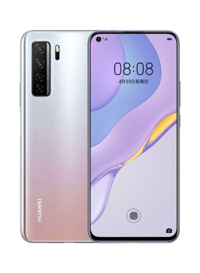 هاتف نوفا 7 SE ثنائي الشريحة بذاكرة رام سعة 8 جيجابايت وذاكرة داخلية سعة 128 جيجابايت ويدعم تقنية 5G LTE، لون فضي فلكي