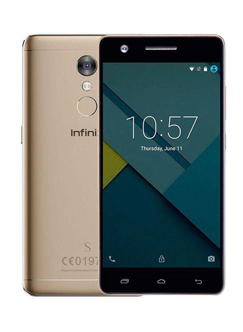 هاتف X522 هوت S2 ثنائي الشريحة لون ذهبي شمباني بذاكرة 16 غيغابايت يدعم تقنية الجيل الرابع LTE