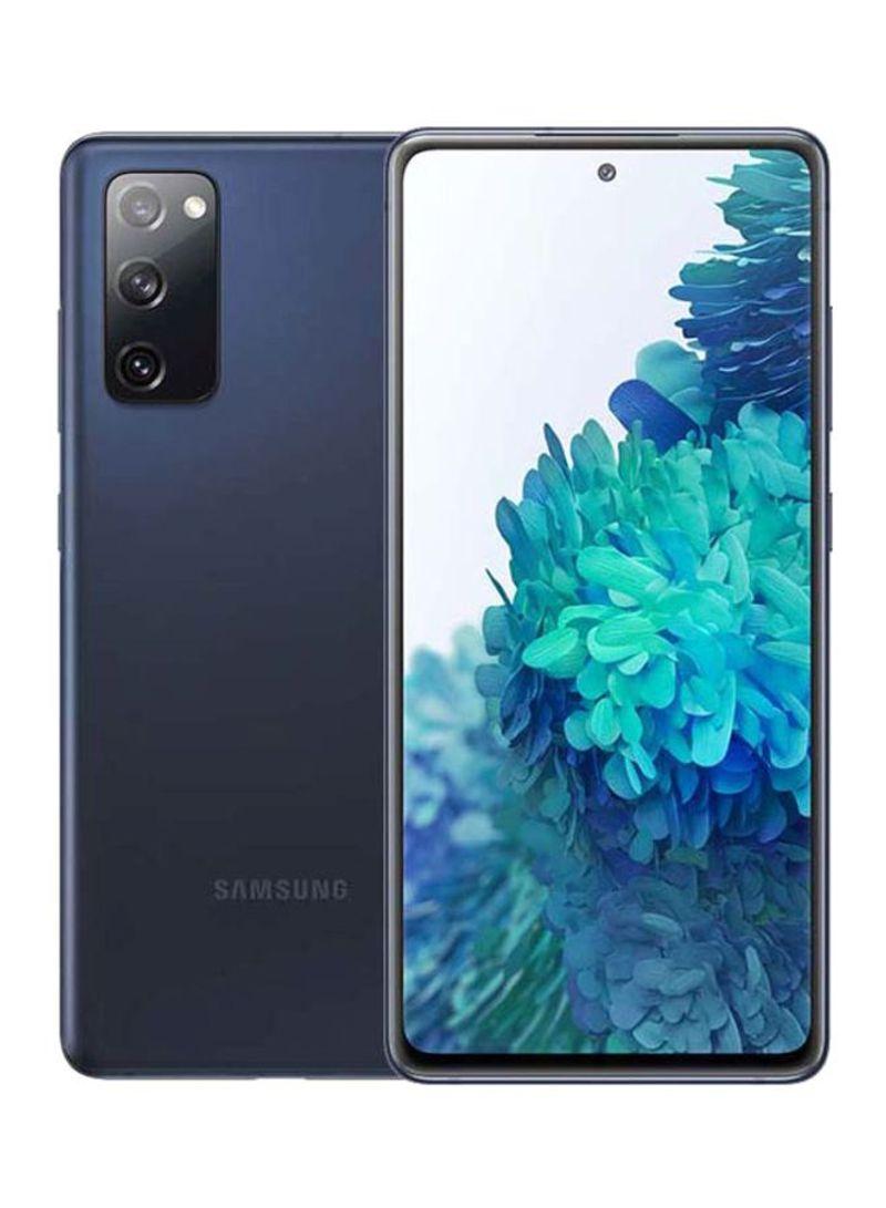 هاتف جالاكسي S20 FE ثنائي الشريحة مزود بذاكرة رام سعة 8 جيجابايت وذاكرة داخلية سعة 128 جيجابايت ويدعم تقنية 4G LTE، لون كحلي سحابي - إصدار الشرق الأوسط