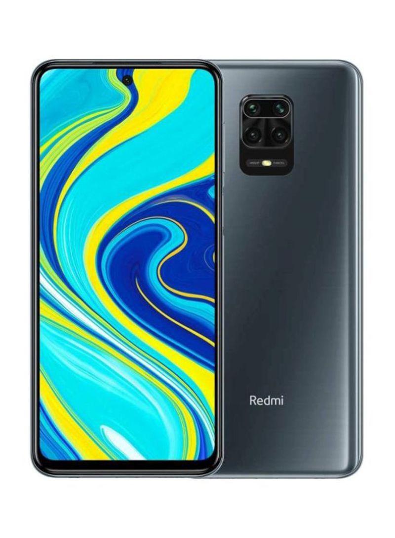 هاتف ريدمي نوت 9S بشريحتي اتصال، مزود بذاكرة رام سعة 4 جيجابايت وذاكرة داخلية سعة 64 جيجابايت ويدعم تقنية 4G LTE، لون رمادي إنترستيلر