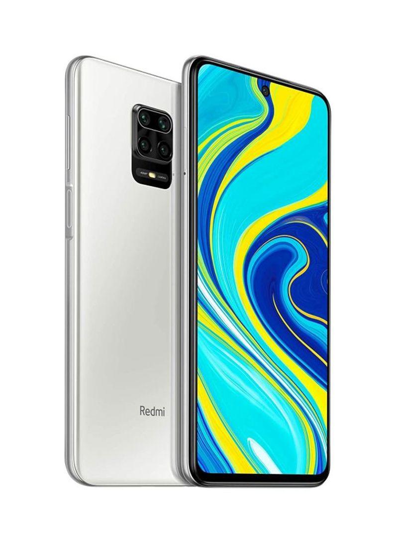 هاتف ريدمي نوت 9 برو مزود بشرحتين وذاكرة وصول عشوائي سعة 4 جيجابايت وذاكرة داخلية سعة 64 جيجابايت ويدعم تقنية 4G LTE، لون أبيض جليدي