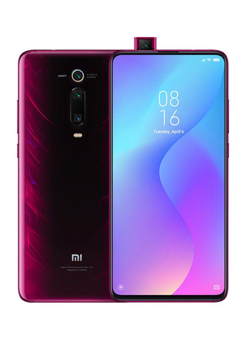 هاتف مي 9T ثنائي الشريحة لون أحمر ناري مع ذاكرة رام سعة 6 جيجابايت وذاكرة داخلية سعة 128 جيجابايت ويدعم تقنية 4G LTE