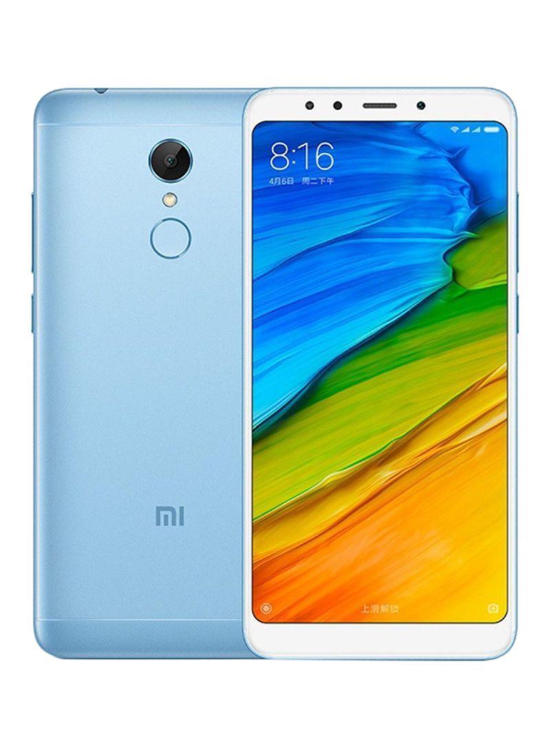 هاتف ريدمي 5 ثنائي الشريحة لون أزرق بذاكرة 32 غيغابايت يدعم تقنية الجيل الرابع LTE