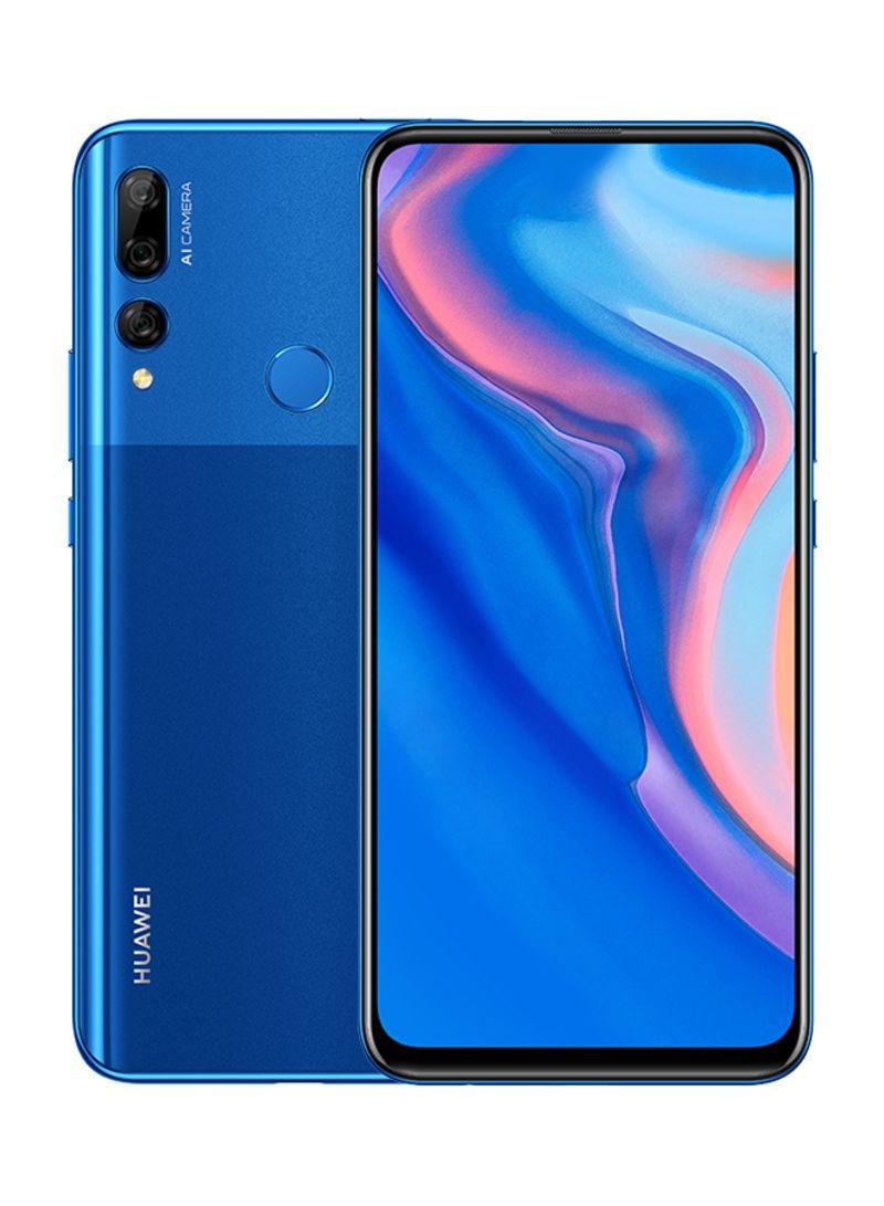 هاتف Y9 برايم ثنائي الشريحة لون أزرق ياقوتي بذاكرة داخلية سعة 128 جيجابايت وذاكرة رام سعة 4 جيجابايت ويدعم تقنية 4G LTE