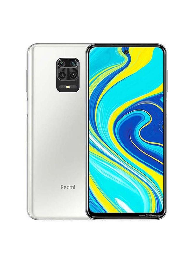 هاتف ريدمي نوت 9S ثنائي الشريحة، بذاكرة 64 جيجابايت وذاكرة رام 4 جيجابايت ويدعم تقنية 4G LTE، لون أبيض جليدي