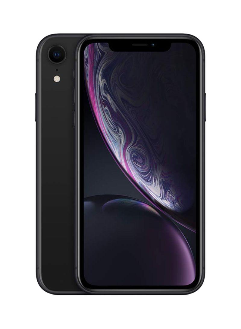 آيفون XR مع فيس تايم لون أسود بذاكرة داخلية 64 غيغابايت يدعم الجيل الرابع LTE - منطقة الشرق الأوسط