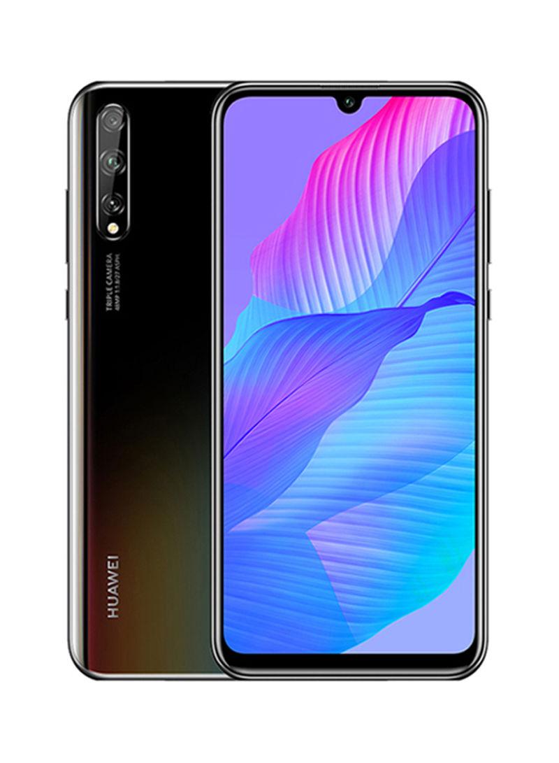 هاتف Y8P بشريحتين بلون أسود منتصف الليل وذاكرة رام 6 جيجابايت وذاكرة داخلية سعة 128 جيجابايت ويدعم تقنية 4G LTE