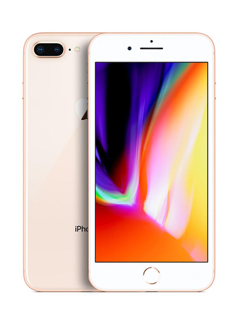 آيفون 8 بلس بخاصية فيس تايم لون ذهبي سعة 128 جيجابايت يدعم خدمة 4G LTE - مواصفات دولية