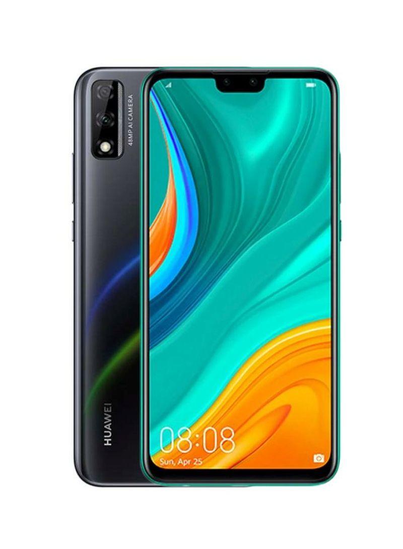 هاتف Y8s وبذاكرة رام سعة 4 جيجابايت وذاكرة داخلية سعة 64 جيجابايت ويدعم تقنية 4G LTE، لون أسود ميدنايت