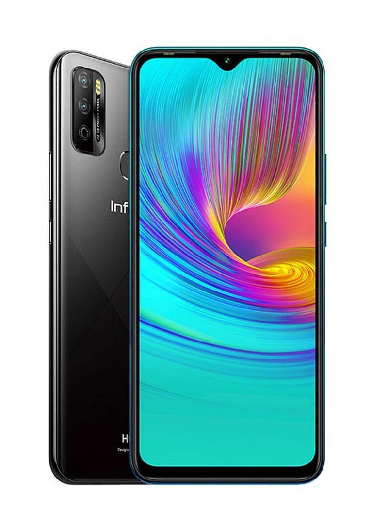 هاتف هوت 9 بلاي بشريحتين بلون أسود منتصف الليل وذاكرة رام 3 جيجابايت وذاكرة داخلية سعة 64 جيجابايت ويدعم تقنية 4G LTE