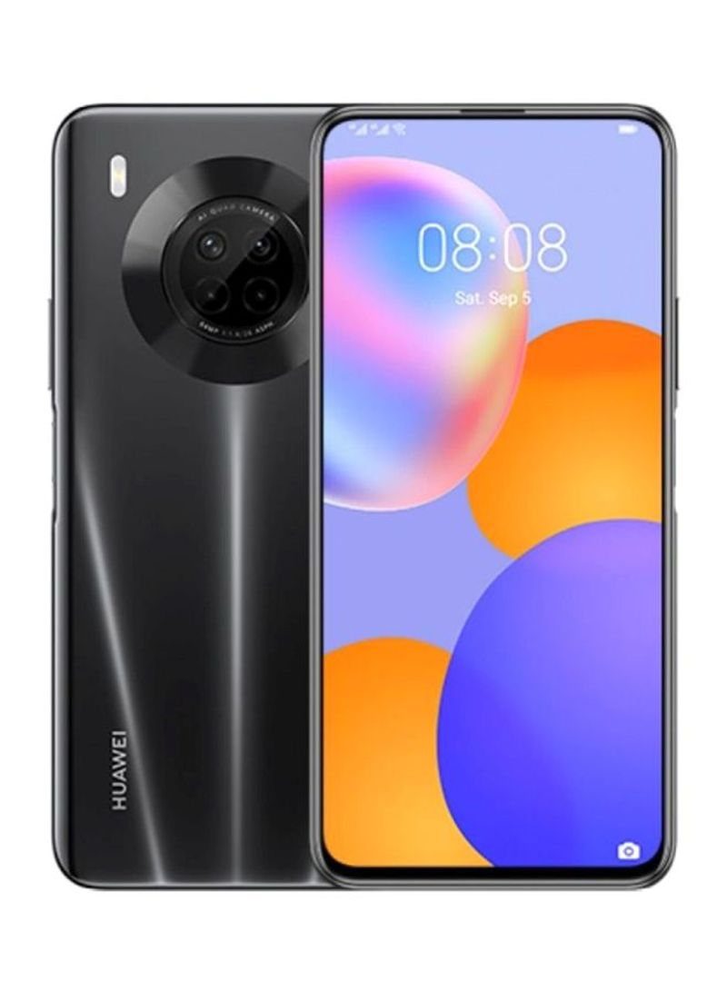 هاتف Y9A ثنائي الشريحة مزود بذاكرة رام سعة 8 جيجابايت وذاكرة داخلية سعة 128 جيجابايت ويدعم تقنية 4G LTE، لون أسود ميدنايت