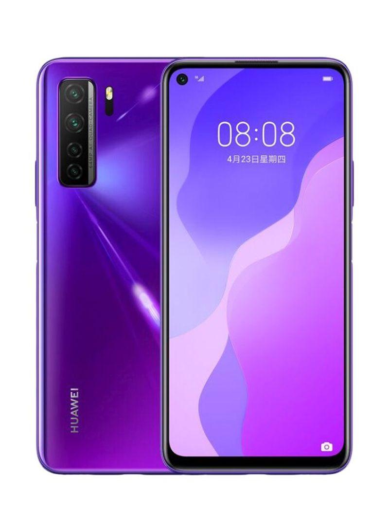 هاتف نوفا 7 SE ثنائي الشريحة بذاكرة رام سعة 8 جيجابايت وذاكرة داخلية سعة 128 جيجابايت ويدعم تقنية 5G LTE، لون أرجواني ميد سمر