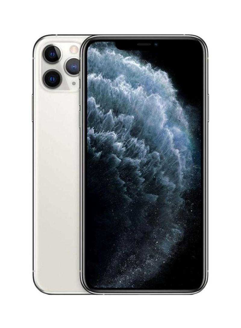 آيفون 11 برو ماكس بخاصية فيس تايم لون فضي سعة 64 جيجابايت يدعم تقنية 4G LTE - بالمواصفات المصرية