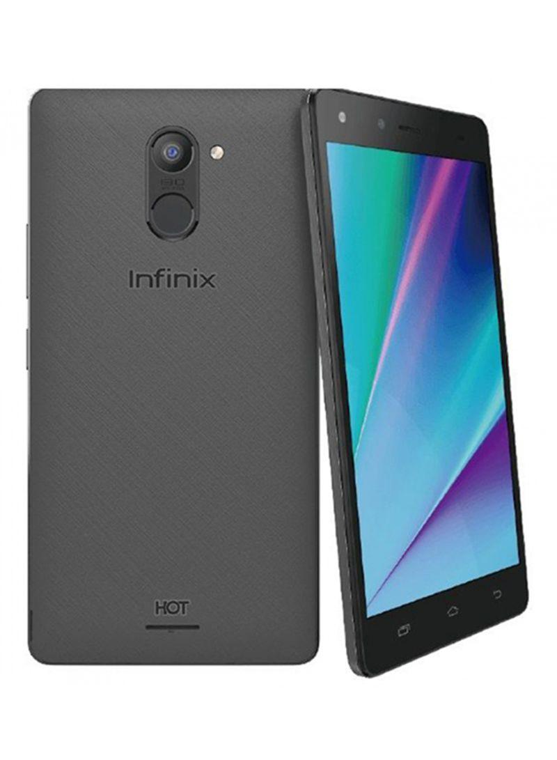 هاتف هوت 4 برو المزدوج الشريحة بلونه الرمادي بذاكرة سعة 16 جيجابايت ومزود بخدمة 3G