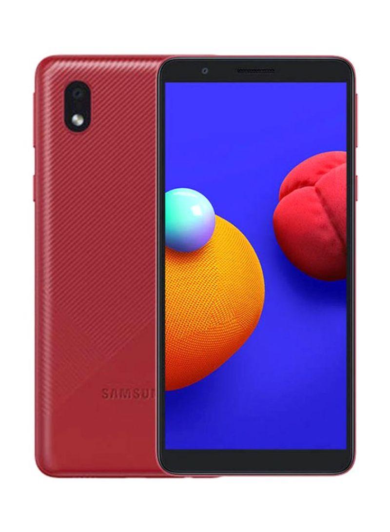 جالاكسي A01 كور ثنائي الشريحة بذاكرة رام 1 جيجابايت وسعة داخلية 16 جيجابايت يدعم تقنية 4G LTE - أحمر
