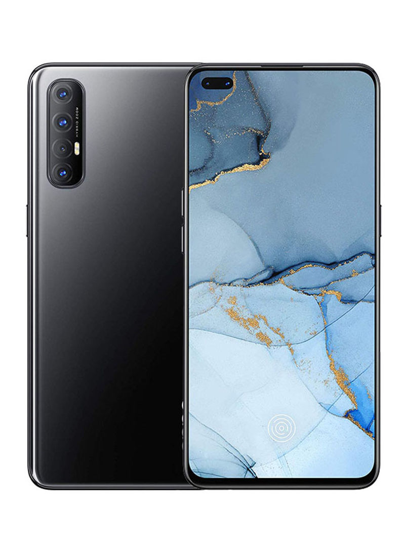هاتف رينو 3 ثنائي الشريحة وذاكرة رام 8 جيجابايت وذاكرة 256 جيجابايت ويعمل بتقنية 4G LTE، لون أسود داكن