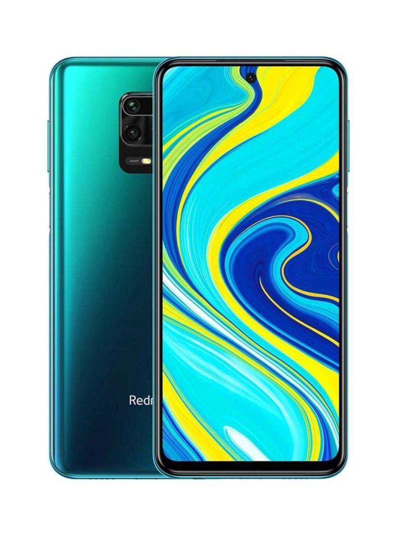 هاتف ريدمي نوت 9S بشريحتي اتصال وذاكرة رام سعة 4 جيجابايت وذاكرة داخلية سعة 64 جيجابايت ويدعم تقنية 4G LTE، لون أزرق
