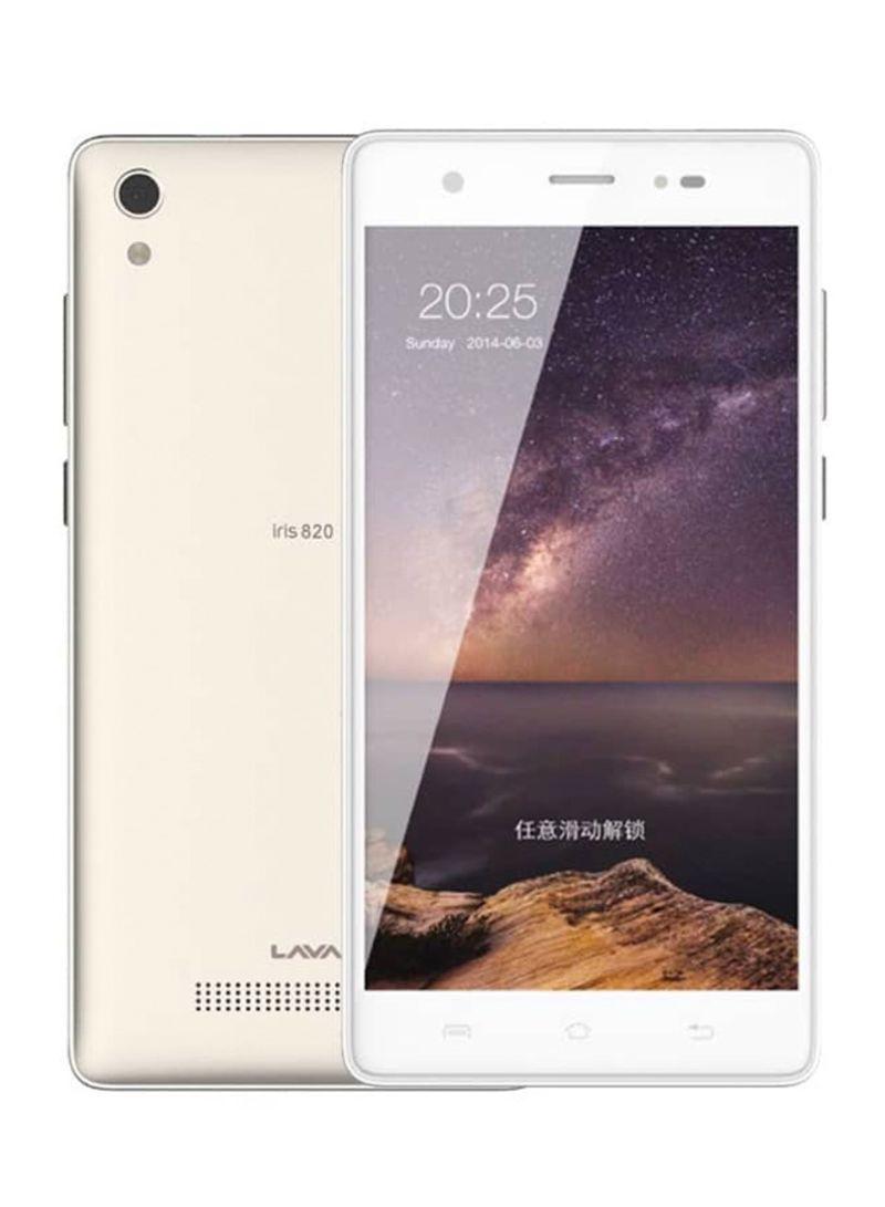 هاتف آيرس 820 المزدوج الشريحة بلون ذهبي بذاكرة سعة 8 جيجابايت ومزود بخدمة 3G