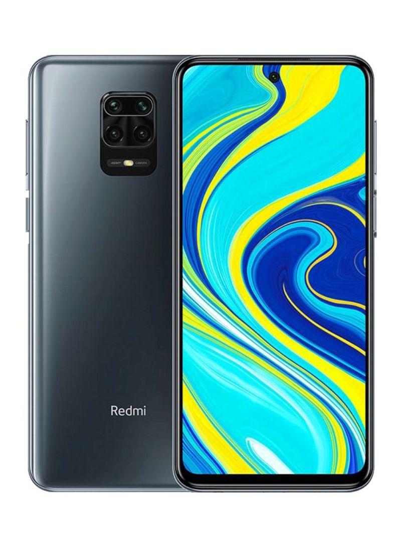 هاتف ريدمي نوت 9S بلون رمادي نجمي مزود بشريحتي اتصال وذاكرة رام سعة 6 جيجابايت وذاكرة داخلية سعة 128 جيجابايت ويدعم تقنية 4G LTE